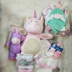 NWT Baby Girl Unicorn Bundle 🦄💗🎠🌈 pt 1